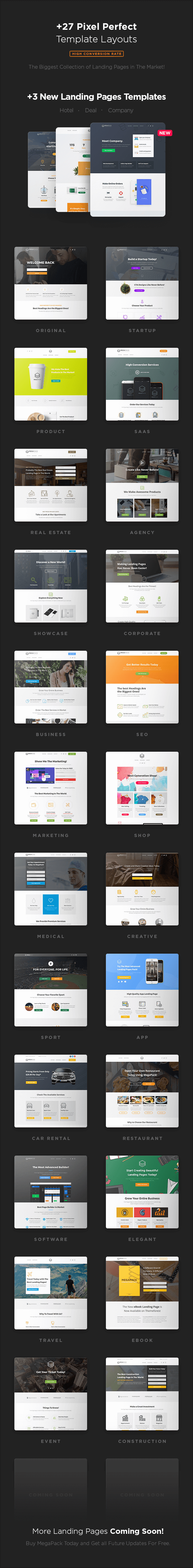 MEGAPACK – Marketing HTML Landing Pages Pack + PixFort Page Builder Access - 20