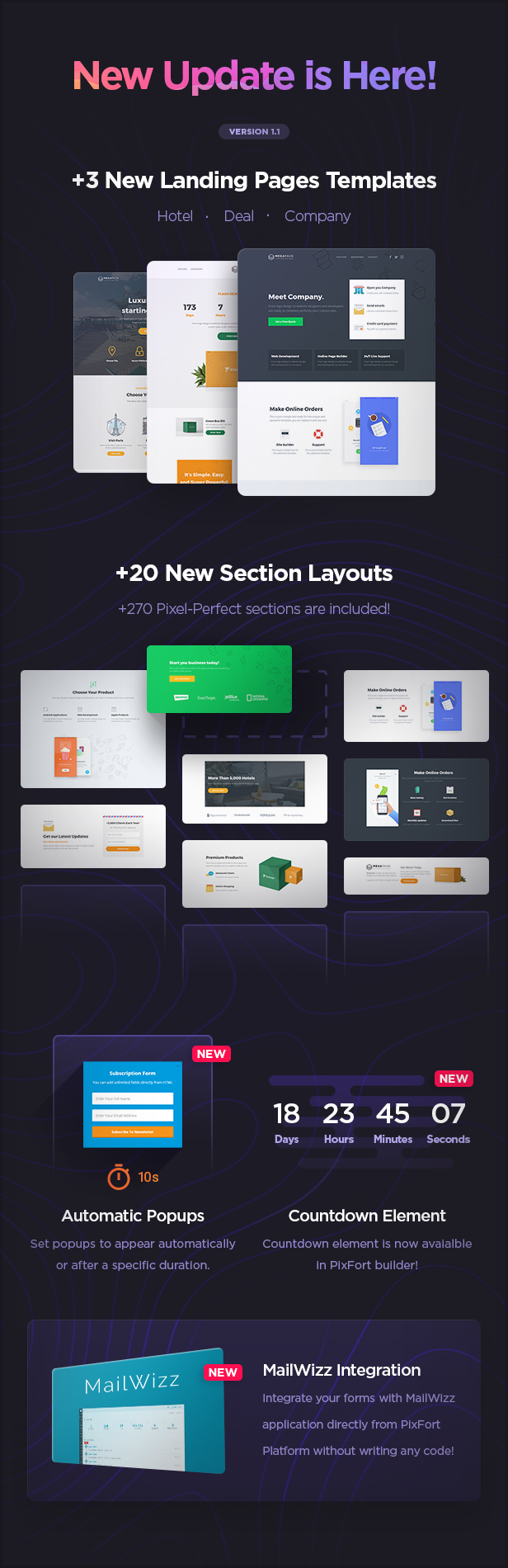 MEGAPACK – Marketing HTML Landing Pages Pack + PixFort Page Builder Access - 5